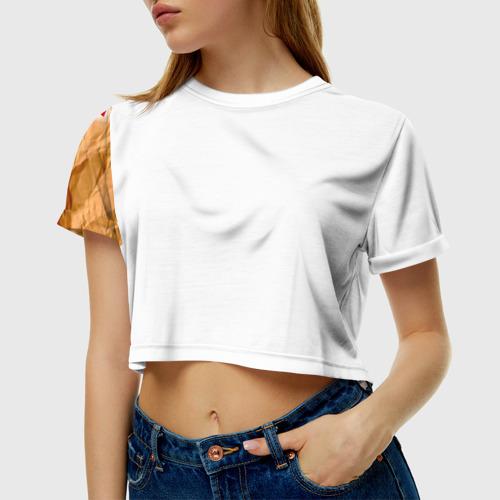 Женская футболка 3D укороченная Яплакал