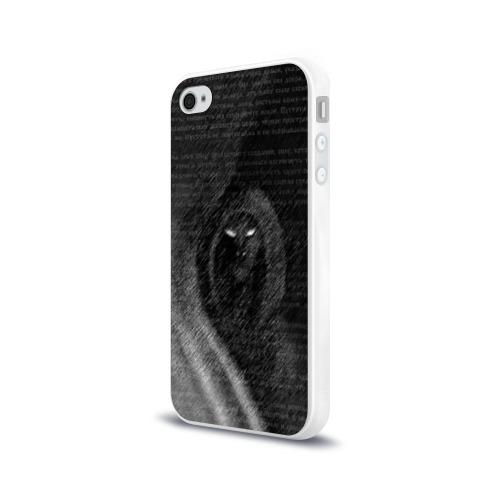Чехол для Apple iPhone 4/4S силиконовый глянцевый  Фото 03, Тень