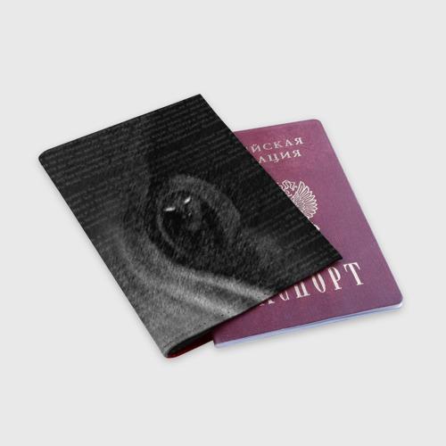 Обложка для паспорта матовая кожа Тень Фото 01