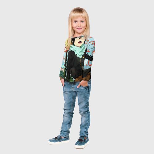 Детский лонгслив 3D  Фото 04, Бездомный бог