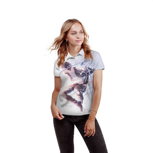 Женская рубашка поло 3D  Фото 03, Бездомный бог