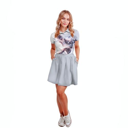 Женская рубашка поло 3D  Фото 04, Бездомный бог