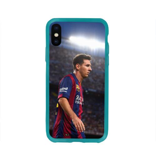 Чехол для Apple iPhone X силиконовый глянцевый Messi Фото 01