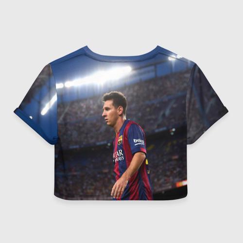 Женская футболка 3D укороченная  Фото 02, Messi