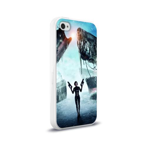Чехол для Apple iPhone 4/4S силиконовый глянцевый  Фото 02, Обитель зла