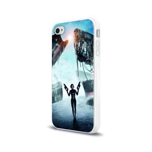 Чехол для Apple iPhone 4/4S силиконовый глянцевый  Фото 03, Обитель зла