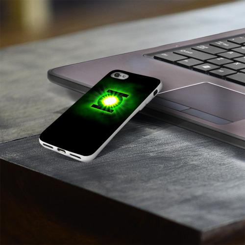 Чехол для Apple iPhone 8 силиконовый глянцевый  Фото 03, Зеленый фонарь