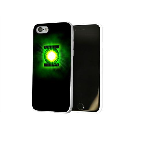Чехол для Apple iPhone 8 силиконовый глянцевый  Фото 02, Зеленый фонарь
