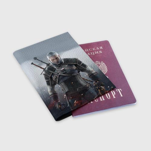 Обложка для паспорта матовая кожа  Фото 03, Ведьмак Геральт