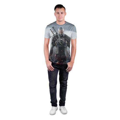 Мужская футболка 3D спортивная  Фото 04, Ведьмак Геральт