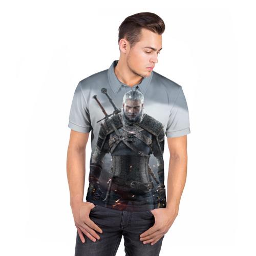 Мужская рубашка поло 3D  Фото 05, Ведьмак Геральт