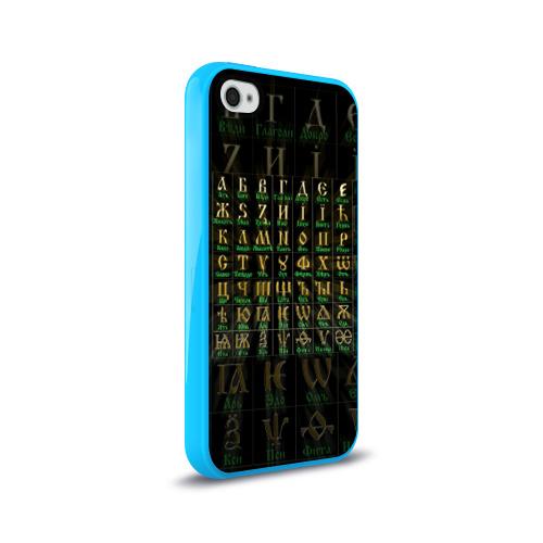 Чехол для Apple iPhone 4/4S силиконовый глянцевый Старославянский словарь Фото 01