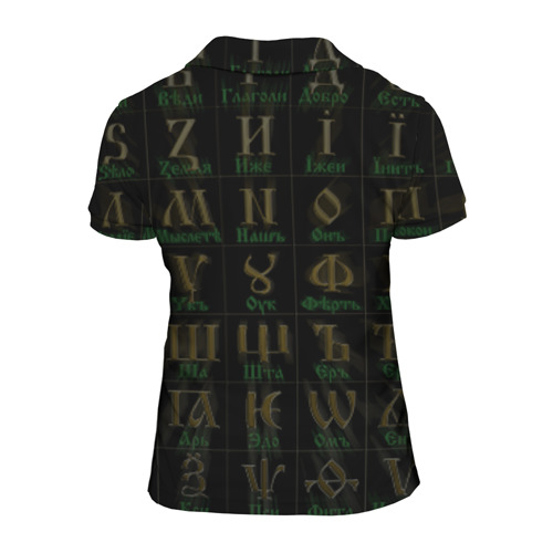 Женская рубашка поло 3D Старославянский словарь Фото 01