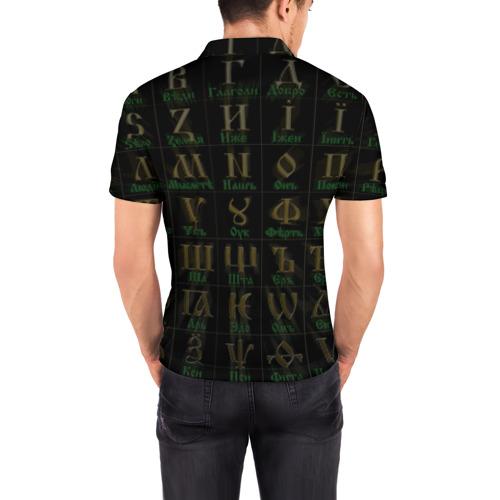 Мужская рубашка поло 3D Старославянский словарь Фото 01