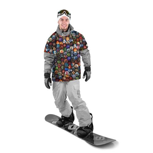 Накидка на куртку 3D  Фото 03, Dota 2 коллаж соты