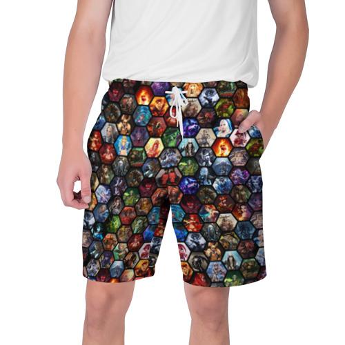Мужские шорты 3D Dota 2 коллаж соты