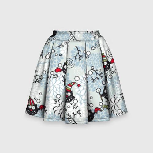 Детская юбка-солнце 3D Совы
