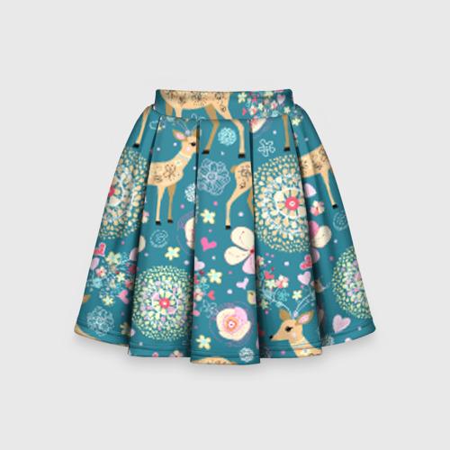 Детская юбка-солнце 3D Олени
