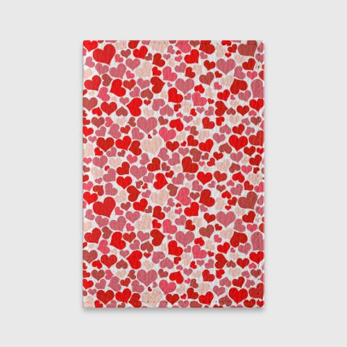 Обложка для паспорта матовая кожа Сердца, любовь, орнамент, праз Фото 01