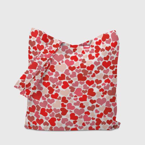 Сумка 3D повседневная  Фото 04, Сердца, любовь, орнамент, праз