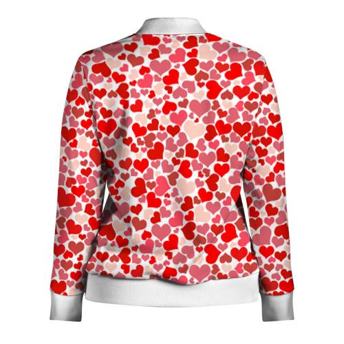 Женская олимпийка 3D  Фото 02, Сердца, любовь, орнамент, праз
