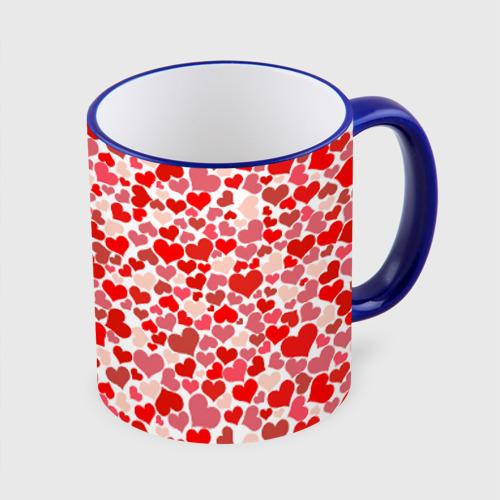 Кружка с полной запечаткой  Фото 01, Сердца, любовь, орнамент, праз