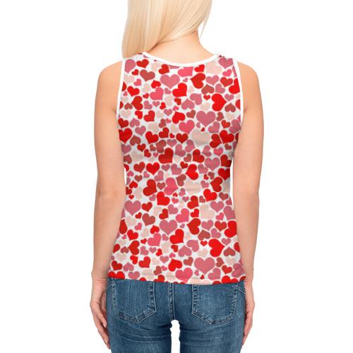 Женская майка 3D  Фото 04, Сердца, любовь, орнамент, праз