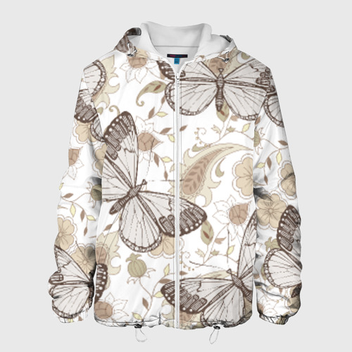 Мужская куртка 3D  Фото 01, Бабочки