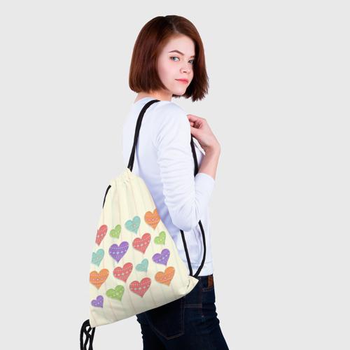 Рюкзак-мешок 3D  Фото 02, Сердечки