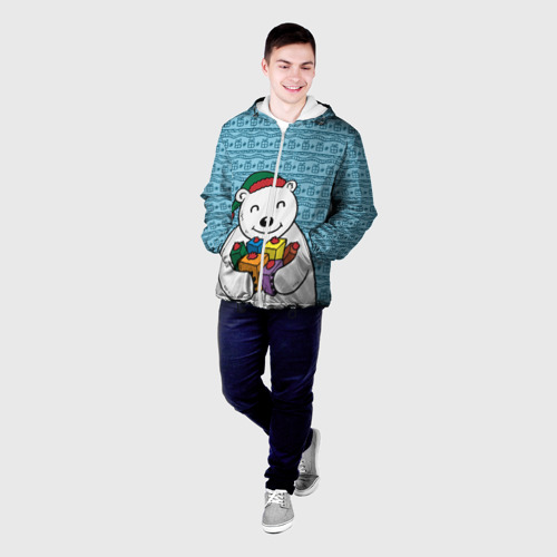 Мужская куртка 3D  Фото 03, Новогодний мишка