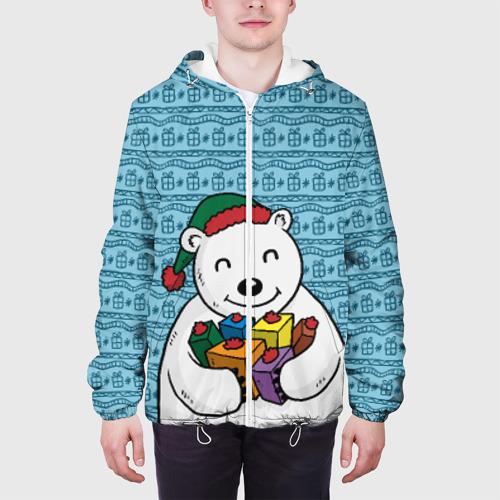 Мужская куртка 3D  Фото 04, Новогодний мишка