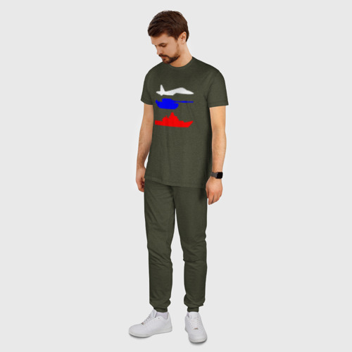Мужская пижама хлопок Флаг РФ (Военная техника) Фото 01