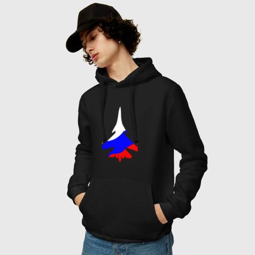 Мужская толстовка хлопок  Фото 03, Флаг России (Су-33)