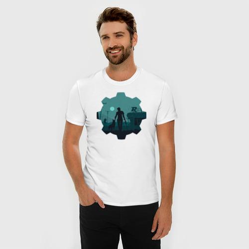 Мужская футболка премиум  Фото 03, Alone
