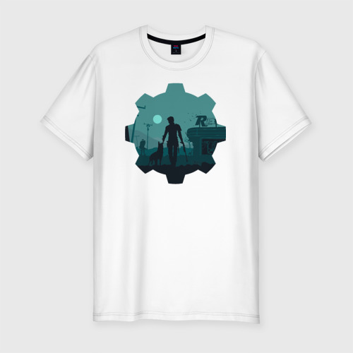 Мужская футболка премиум  Фото 01, Alone