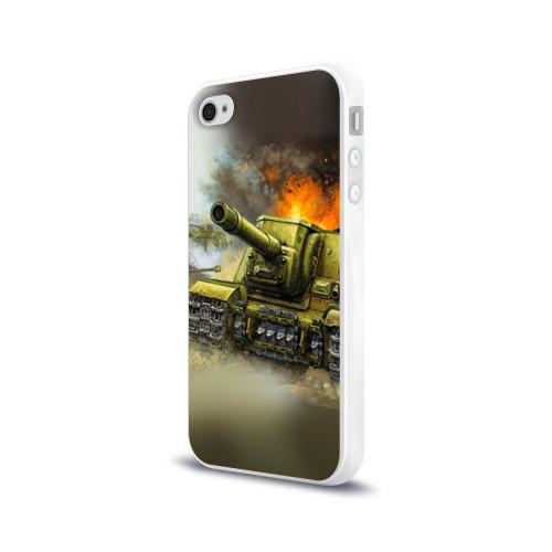 Чехол для Apple iPhone 4/4S силиконовый глянцевый  Фото 03, Военная техника