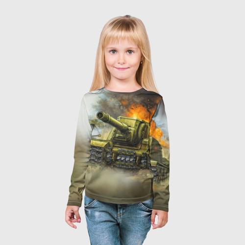 Детский лонгслив 3D  Фото 03, Военная техника