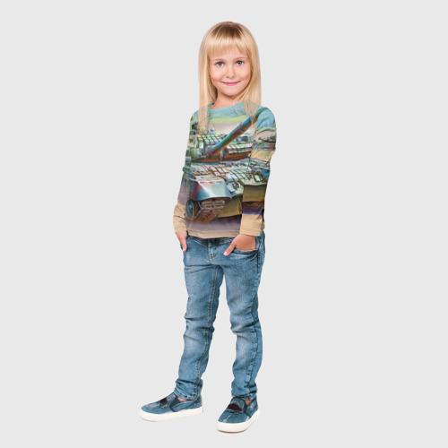 Детский лонгслив 3D  Фото 04, Военная техника