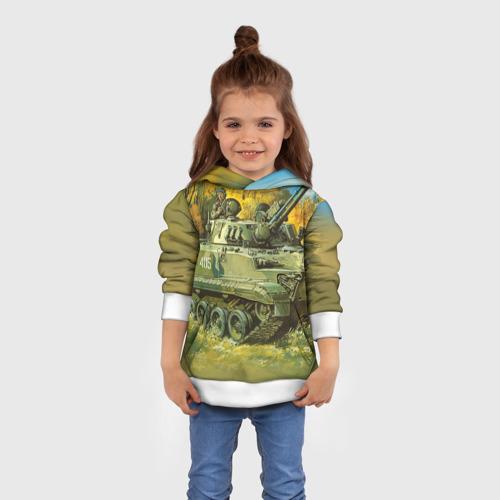 Детская толстовка 3D  Фото 01, Военная техника