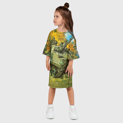 Детское платье 3D  Фото 03, Военная техника