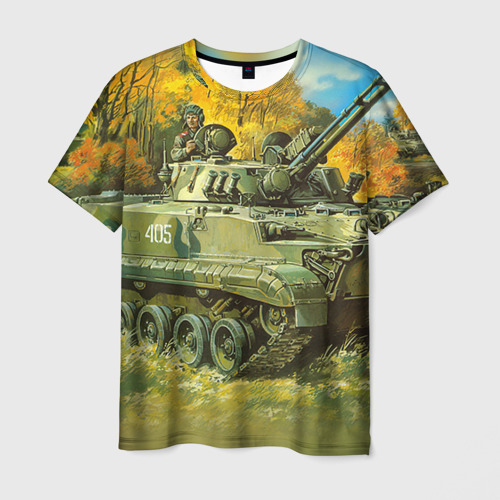 Мужская футболка 3D  Фото 03, Военная техника