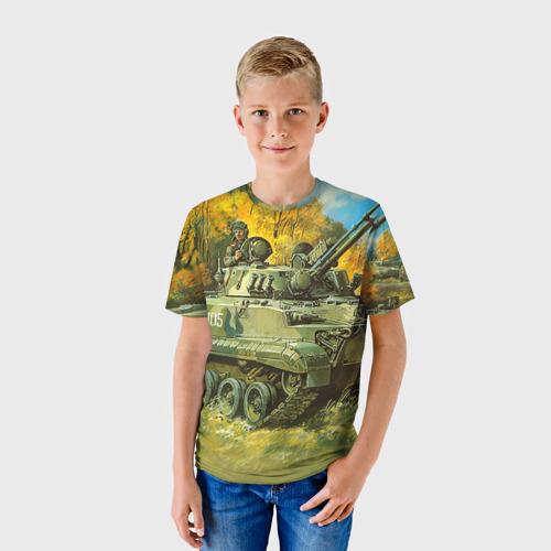 Детская футболка 3D Военная техника