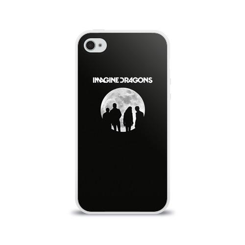 Чехол для Apple iPhone 4/4S силиконовый глянцевый  Фото 01, Imagine dragons