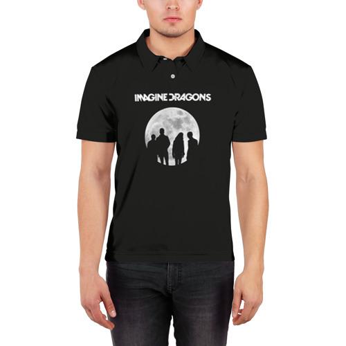 Мужская рубашка поло 3D  Фото 03, Imagine dragons