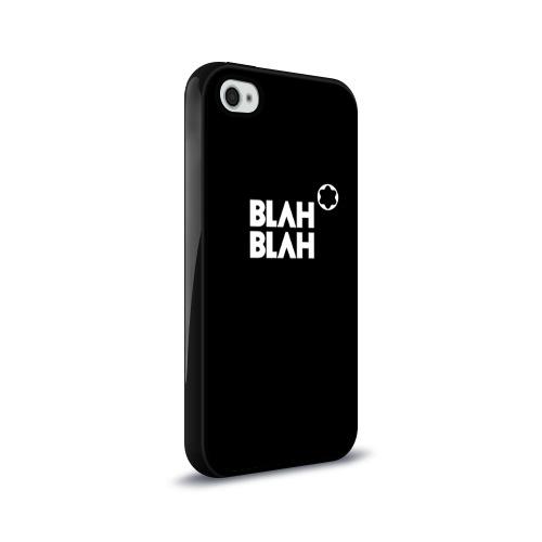 Чехол для Apple iPhone 4/4S силиконовый глянцевый  Фото 02, Blah-blah
