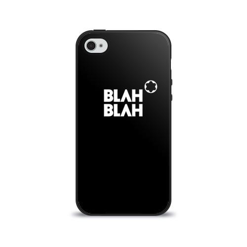 Чехол для Apple iPhone 4/4S силиконовый глянцевый  Фото 01, Blah-blah