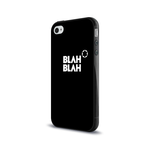 Чехол для Apple iPhone 4/4S силиконовый глянцевый  Фото 03, Blah-blah