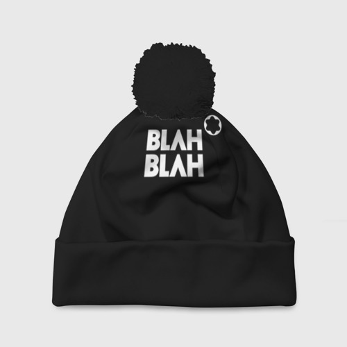 Шапка 3D c помпоном Blah-blah