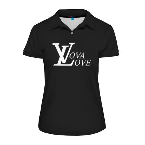 Женская рубашка поло 3D Vova love