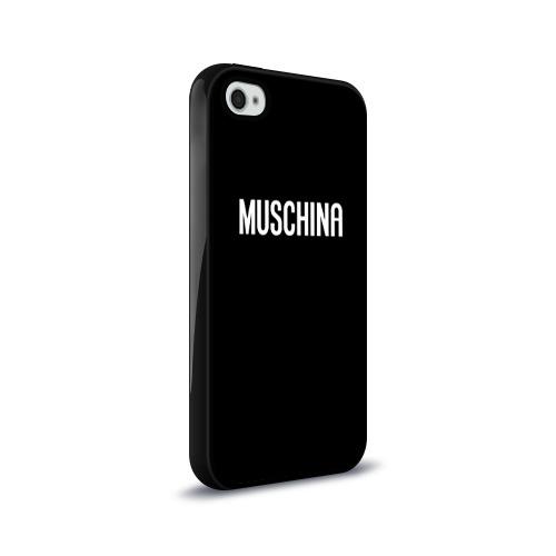 Чехол для Apple iPhone 4/4S силиконовый глянцевый  Фото 02, Muschina